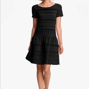 Black Eliza J Seemed Drop Waist Dress Size 6